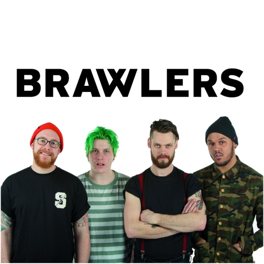 Brawlers 'I Am A Worthless Piece Of Shit' on Alcopop! Records