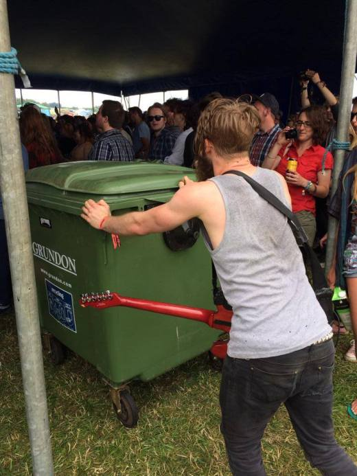 Johnny and his green bin