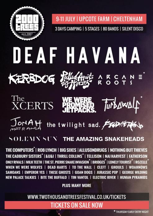 More names announced for 2000trees 2015