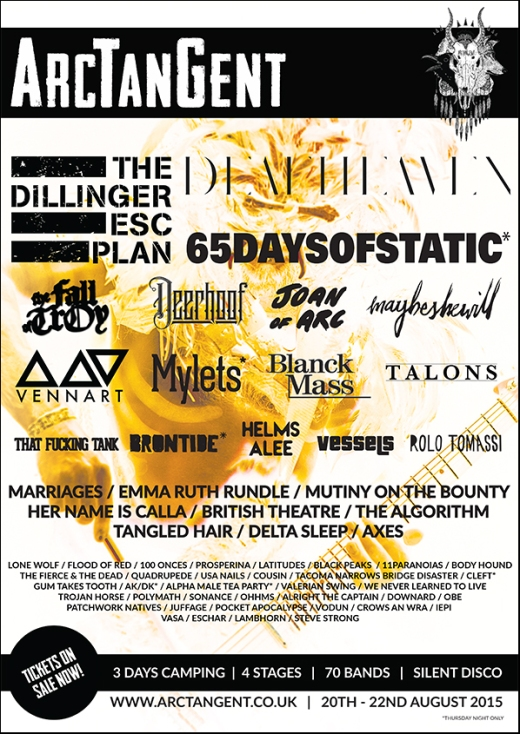 THE FALL OF TROY, Joan of Arc, Maybeshewill, Vessels and Lone Wolf join the ArcTanGent 2015 line up