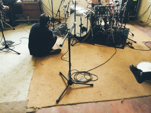 ASIWYFA recording 'Heirs'. Photo c/o Rory Friers' Tumblr