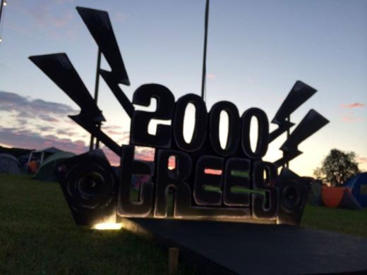 A magnificent sunset over the 2000trees site