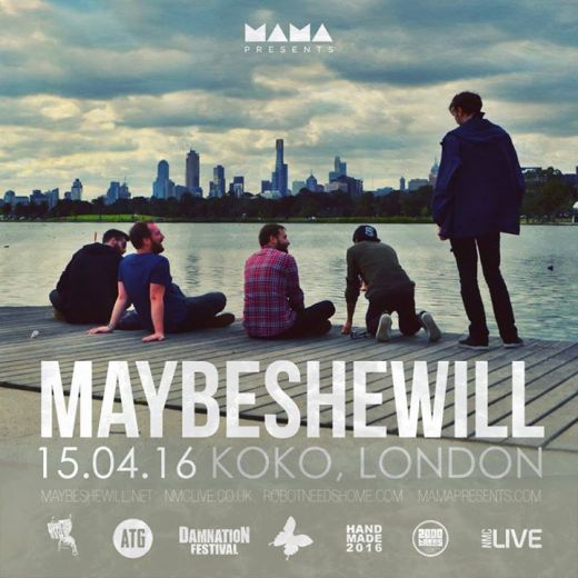The final Maybeshewill show takes place 15th April 2016 at Koko in London.