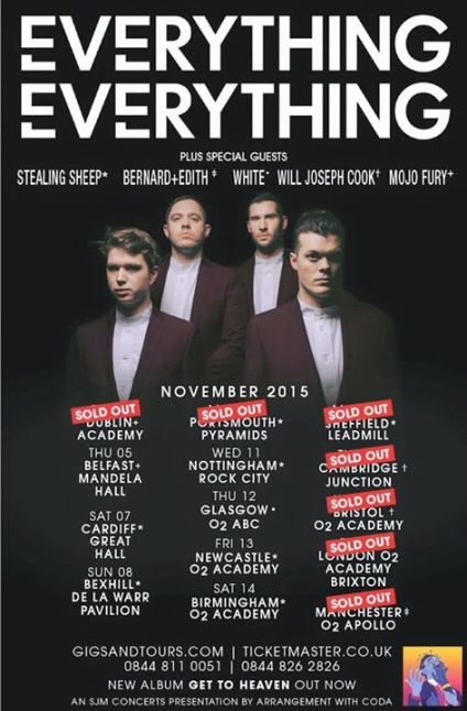 Live Review from the sold out Everything Everything show in Manchester