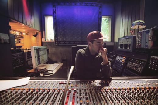 Tarek in the studio (Photo Credit:  Jodie Canwell)