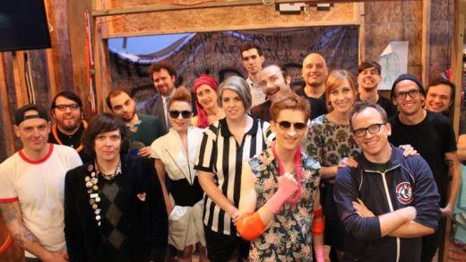 Fan Boys - The crew HAMMing it up on set (Photo Credit: Rebecca McGivney)