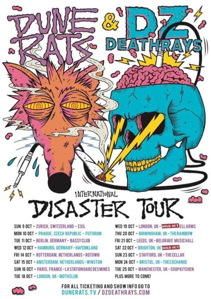 DZ Deathrays and Dune Rats – Soup Kitchen, Manchester 25/10/16