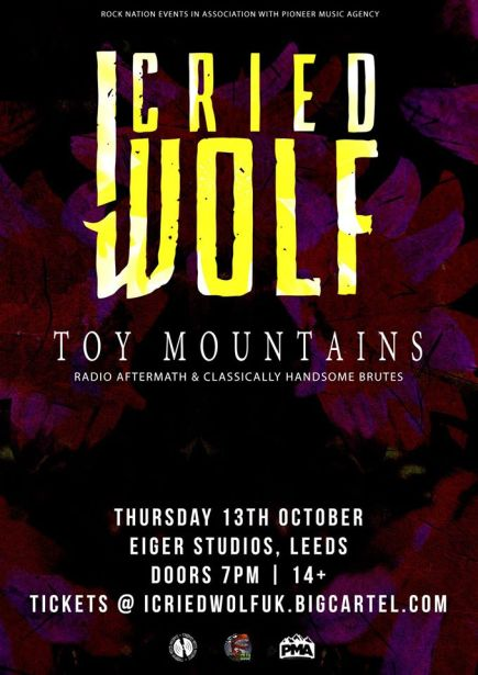 I Cried Wolf and TOY MOUNTAINS – Eiger Studios, Leeds 13/10/16