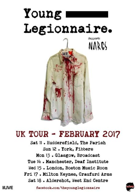 Young Legionnaire - The Deaf Institute, 14/2/17