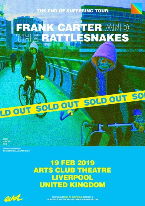 a80f54cc73c1 Live Review  Frank Carter   The Rattlesnakes + Black Futures at the Arts  Club in Liverpool 19 February 2019